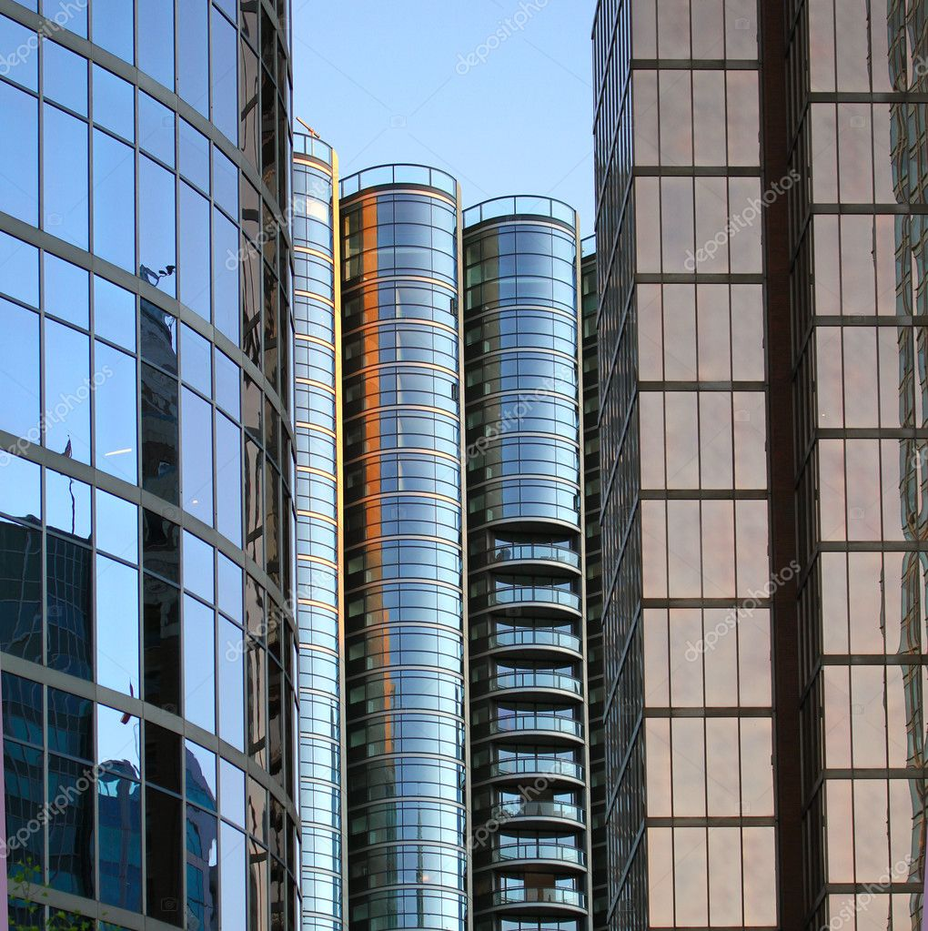 Window reflection from Vancouver city — Stock Photo #6720527