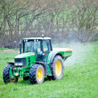 Stock Photo: Seeding tractor