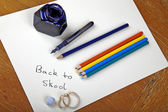 Back to school - old style — Stock Photo