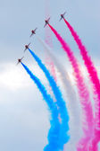 Red arrows in formation — Stock Photo