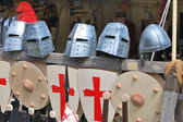 Armour and shields — Stock Photo