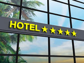 Hotel five stars — Stock Photo