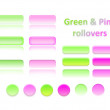 Stock Photo: Green and pink rollovers