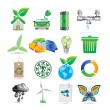 Stock Vector: Set of ecology icons