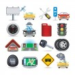 Stok Vektör: Car icon set