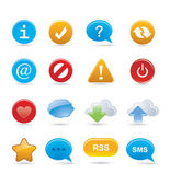 Buttons and signs — Stock Vector