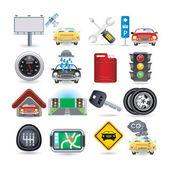 Conjunto de iconos de coche — Vector de stock