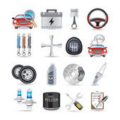 Car parts and service — Stock Vector