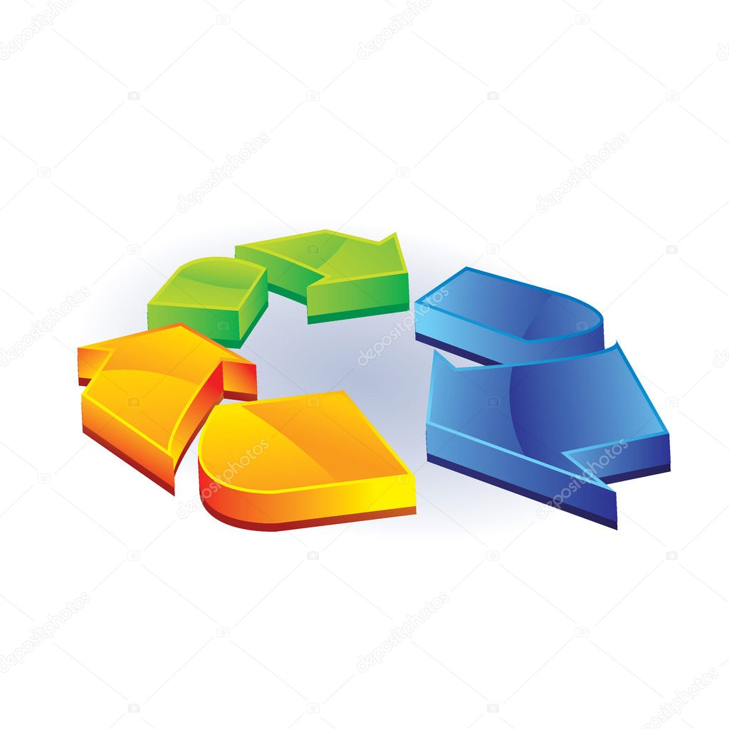 Recycle icon — Stock Vector #5989637