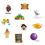 Vector set of icon design — Stock Vector