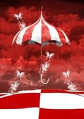 Wonderland series -magic umbrella — Stock Photo