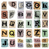 Vintage alphabet — Stock Photo