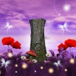 Enchanted nature series - enchanted meadow - Foto de Stock  