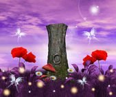 Enchanted nature series - enchanted meadow — Stok fotoğraf