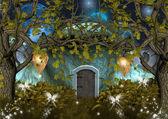 魔法的大自然系列-矮人的房子 — 图库照片