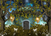 Serie naturaleza encantada - casa de gnomos — Foto de Stock