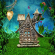 Elves secret house - Stock Photo