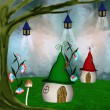 Elves village — Stock Photo