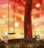 Enchanted swing — Stock Photo