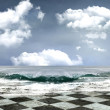 Original seascape background — Stock Photo
