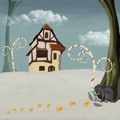 Serie inverno - casa di babbo natale — Foto Stock