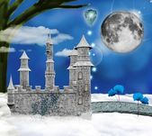 Wonderland series - fabulous castle — Stock Photo