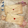 Vintage romantic envelopes — Stock Photo