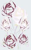 Hermosas rosas — Vector de stock