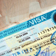 Visa of a Republic of Kazakhstan — Stock Photo #5704823