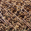 Rust wire fence — Stock Photo