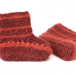 Red baby's bootees — Stock Photo #6442176