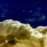 月亮和星星 — 图库照片