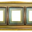 Ancient style golden photo image frame — Stock Photo
