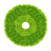 Green grass circle frame isolated — Stock Photo