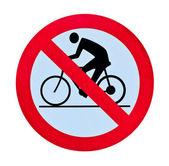 Verbod fiets waarschuwingsbord geïsoleerd — Stockfoto