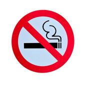 No smoking warning sign isolated — Stock Photo