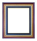 Brown wood photo image frame isolated — Stock Photo