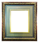 Ancient style wood photo image frame isolated — Stock Photo