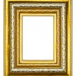 Stock Photo: Golden wood picture frame isolated