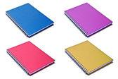 Notebook isoliert auf weiss hintergrund — Stockfoto