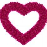 Pink love heart — Stock Photo