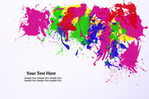 Abstract water color splash on white background — Stock Photo