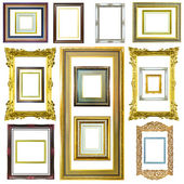 Wooden photo image frame isolated — Stock Photo