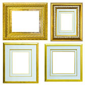 Set of Vintage gold picture frame isolated — Stockfoto