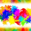 Watercolor splat on grunge background - Foto de Stock