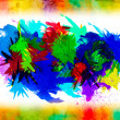 Stock Photo: Watercolor splat on grunge background