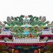 Dragon statue on chinese temple roof — Stock Photo #6181531