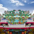Dragon statue on chinese temple roof — Stock Photo #6181539