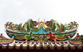 Twin dragon statue isolated — Stock Photo