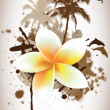 Hawaiian Flower EPS 10 Vector — Stock Vector